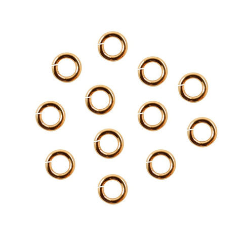 Open Jump Rings 5mm 18K Gold Plated 18 Ga