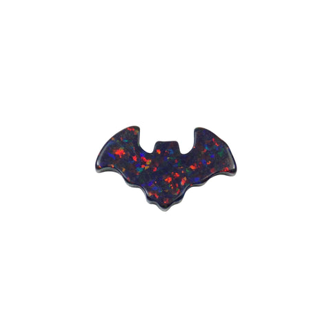 Opal Bat Bead, Dark Bat Charm, Opal Lab Created Bats Pendant, Halloween Jewelry Pendant, Goth Jewelry Charm, Opals Beads Wholesale USA Seller