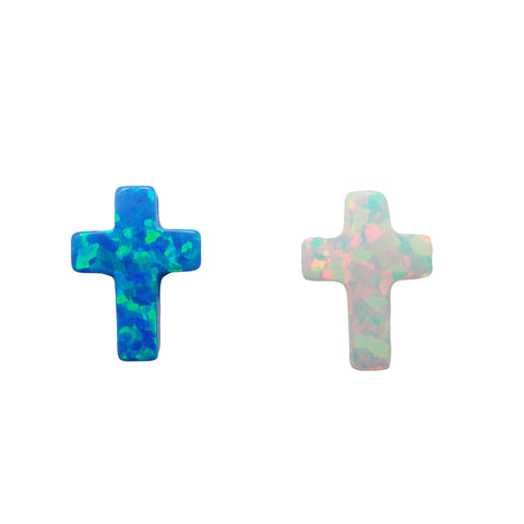opal cross pendants
