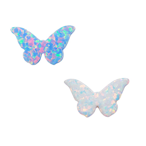 Synthetic Opal Butterfly Pendant 11.1x18.2mm Fully Drilled Opal Butterfly Jewelry Charm