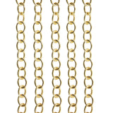 Oval Extender Chain, Cable Unfinished Chain 2.5mm x 3.5mm 22K Gold Plated over 925 Sterling Silve
