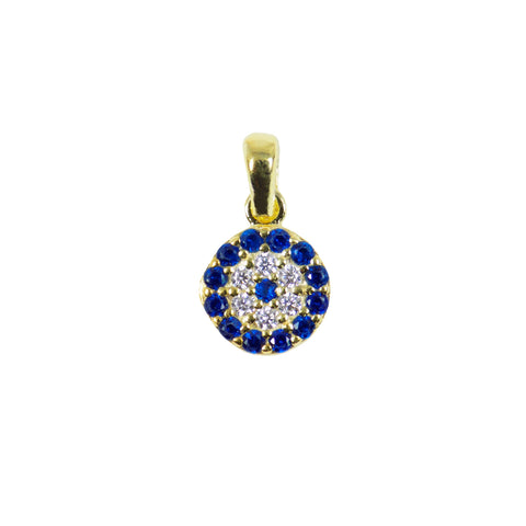gold evil eye pendant
