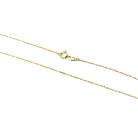 gold sterling silver cable chain