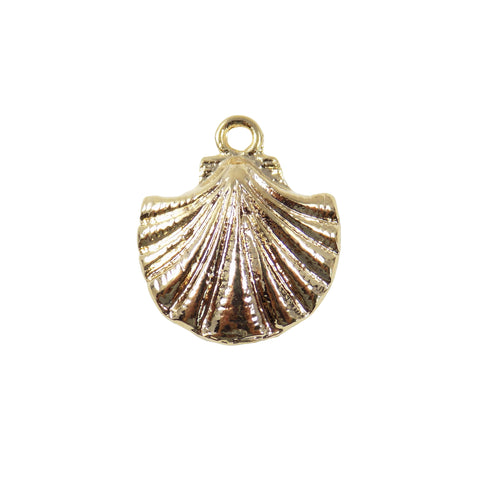 Scallop Charm, Oyster Pendant, Gold Plated 18K, Sea Shell Pendant, Tiny Shell Charm, Summer Charm Sea Pendant Wholesale