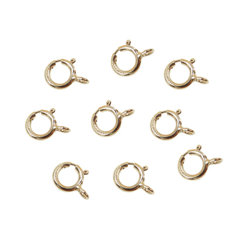 Spring Ring Clasp 6mm. 14 K Gold Filledw/ closed ring.