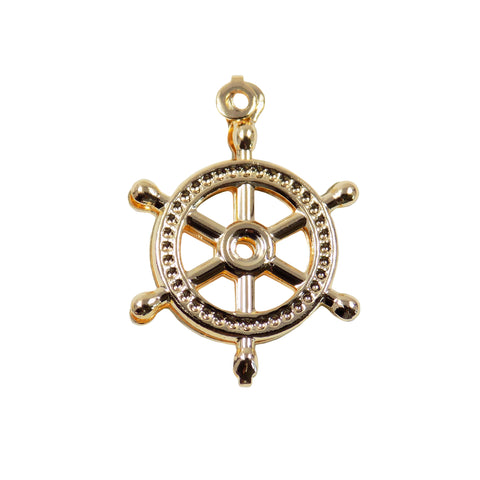 nautical wheel gold filled pendant