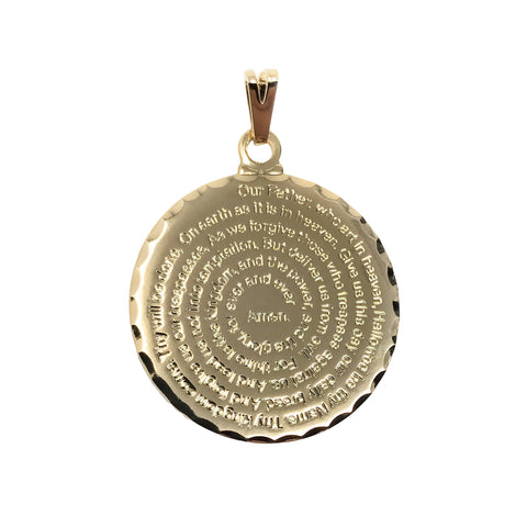 Our father prayer medallion
