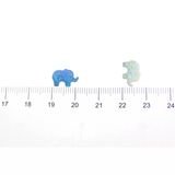 synthetic opal elephants charms
