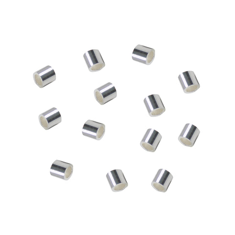 Cut Tube 2mmx2mm (50 pcs) 925 Sterling Silver Crimp Beads Spacer Heavy Cut Tube Hole Size (ID) 1.3mm Anti-Tarnish