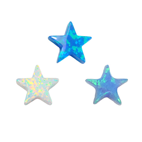 Opal Star Charm 8mm Synthetic Lab-created Opal Charm with Star Shape