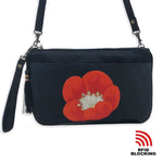 T 009 - Black w/Red Flower