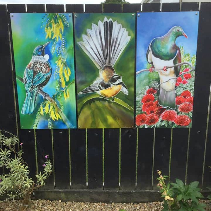 Customer Photo of the Trio on black Fence