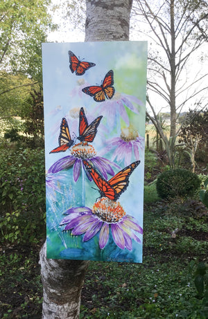 Monarch Butterflies -Outdoor Garden Art Panel