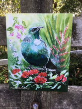 Tui with Pohutukawa, Manuka, Flax and Puriri - Satherley Silks NZ