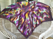 Botanicals, Tawny Leaves  Square - Hand painted Silk Scarf