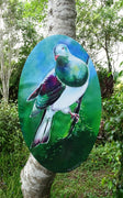Kereru Oval  Art Panel