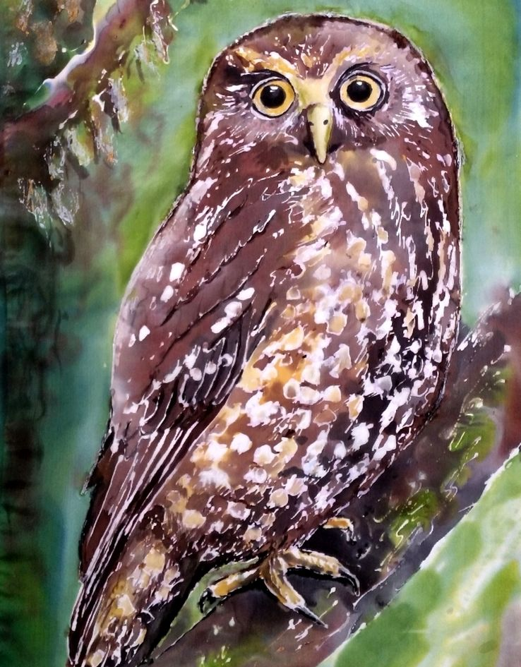 Ruru, Morepork New Zealand Native Owl Outdoor Wall Art - Satherley Silks NZ