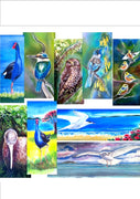 Special, any Three birds of Your Choice Outdoor Art Panels - Satherley Silks NZ