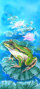 FROG on LOTUS, OUTDOOR Wall ART