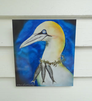 Gannet Art Panel,  Outdoor Wall Art. - Satherley Silks NZ