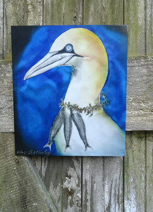 Gannet Art Panel,  Outdoor Wall Art.