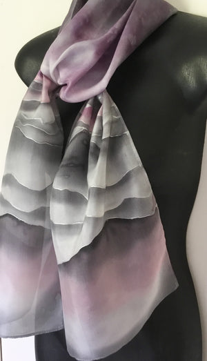 Stripes or Hills, Silk Scarf - Satherley Silks NZ