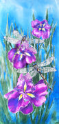 Dragonfly on Iris, Outdoor Wall Art - Satherley Silks NZ