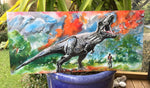 Dinosaur, T Rex, Jurassic Park  Outdoor Art panel - Satherley Silks NZ
