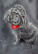 Ruari special  Double Pet Portrait - Hand painted Silk Scarf