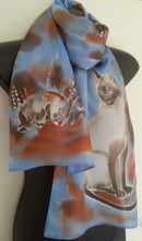 SIAMESE CAT HAND PAINTED SILK SCARF