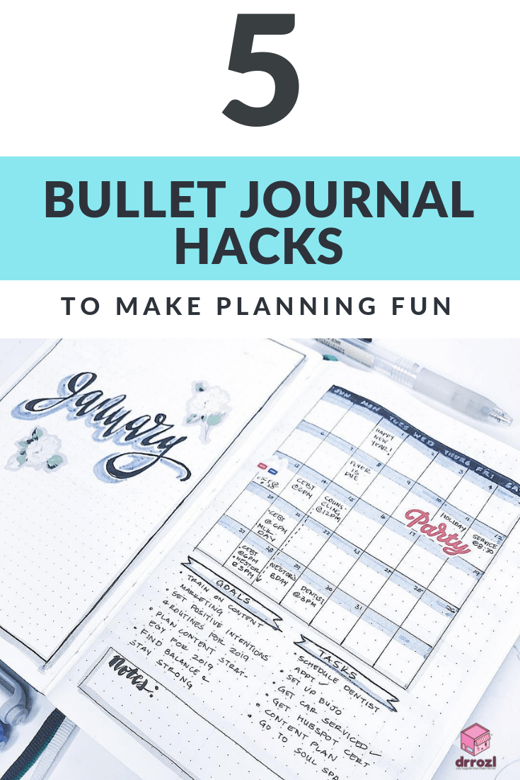 5 Bullet Journal Hacks to Make Planning Fun