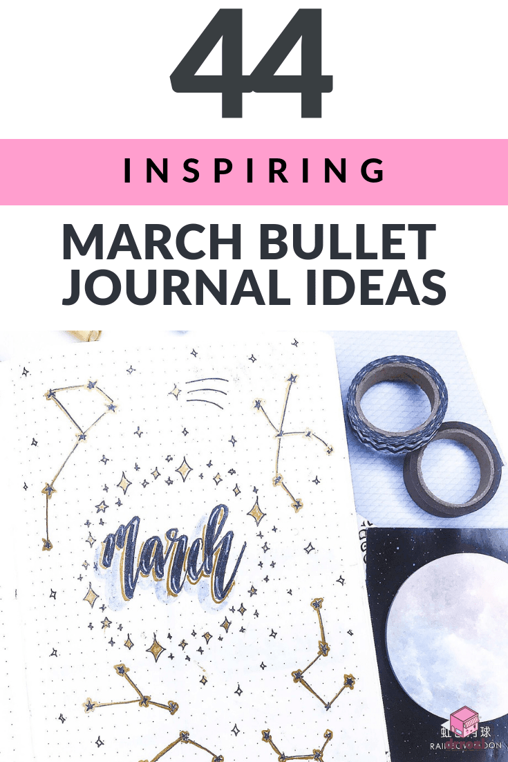 44 Inspiring March Bullet Journal Ideas