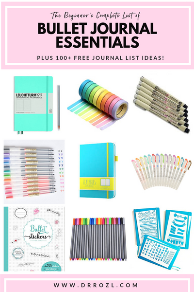 list of bullet journal essentials