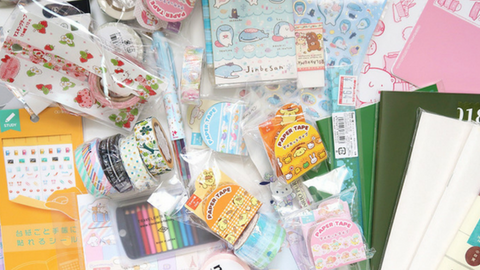 asian stationery stickers and washi-tape