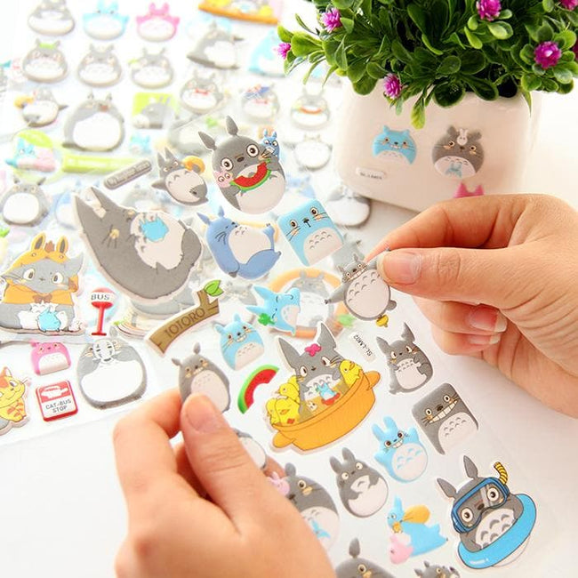 Totoro 3D Stickers - Dr. Rozl Supply