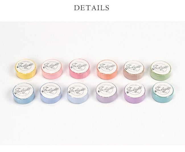 12pc Soft Colorful Washi Set - Dr. Rozl Supply