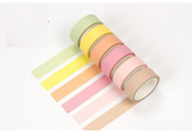 6pc Rainbow Washi Set - Dr. Rozl Supply