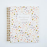 Floral Lined Spiral Notebook