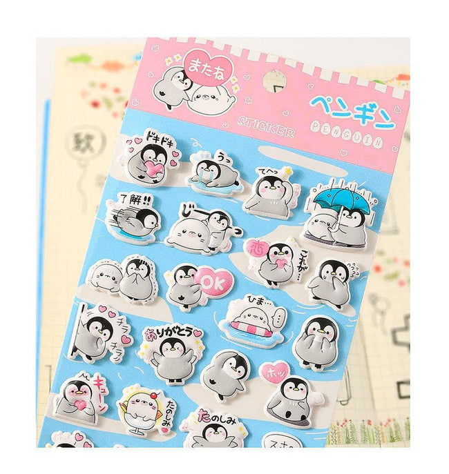 Puffy Penguins Stickerss - Dr. Rozl Supply