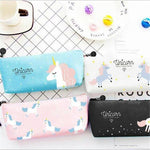 Lovely Unicorn Canvas Pencil Bag