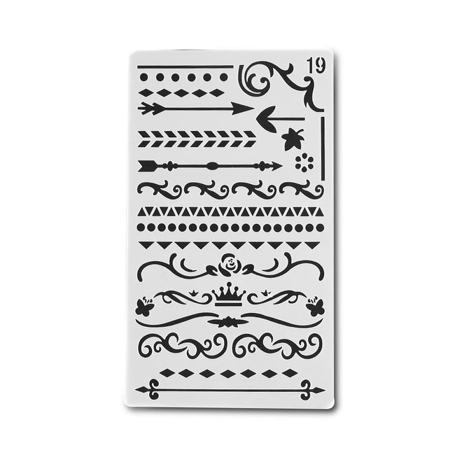 Bullet Journal Stencil Dividers & Borders - Dr. Rozl Supply