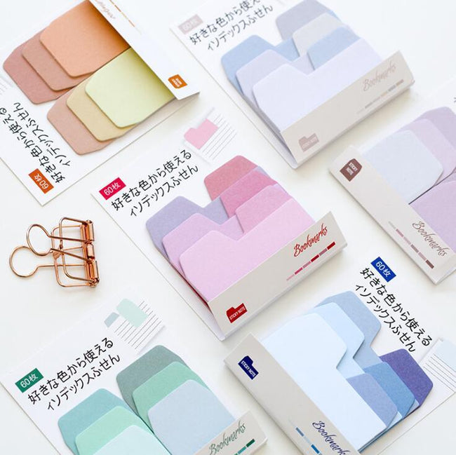 Colorful Gradient Self-Adhesive Sticky Notes - Dr. Rozl Supply