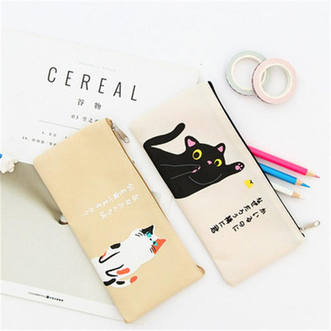 Cream Cat Pencil Case - Dr. Rozl Supply