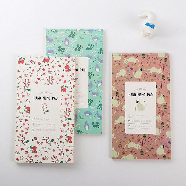 Kawaii Floral Memo Pad - Dr. Rozl Supply