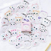 Kawaii WHY Kitty Penguin Stickers