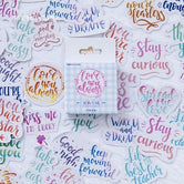 Brush Lettering Scrapbooking Stickers