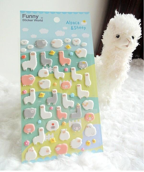 3D Alpaca Stickers - Dr. Rozl Supply