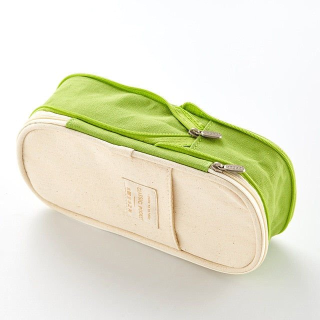 Double Layer Large Capacity Pencil Case - Dr. Rozl Supply