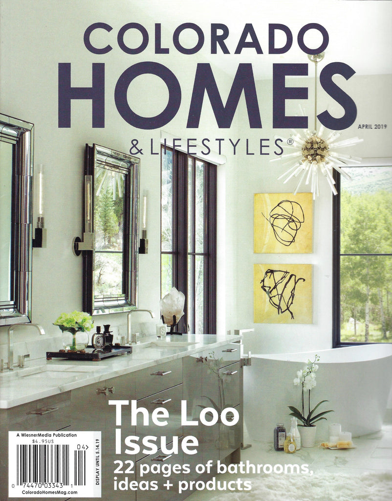 "Beverly Hills Martinique featured in Colorado Homes' ""The Loo Issue""!"