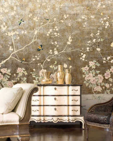 East Meets West: The Timeless Elegance of Chinoiserie Murals